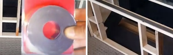 Use magnetic tape for proper closing of lid