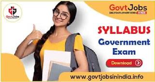 Syllabus of Government Exam
