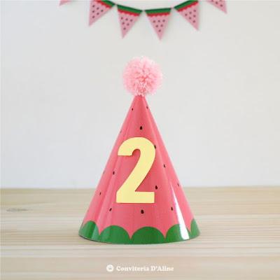 festa melancia chapeuzinho parabéns