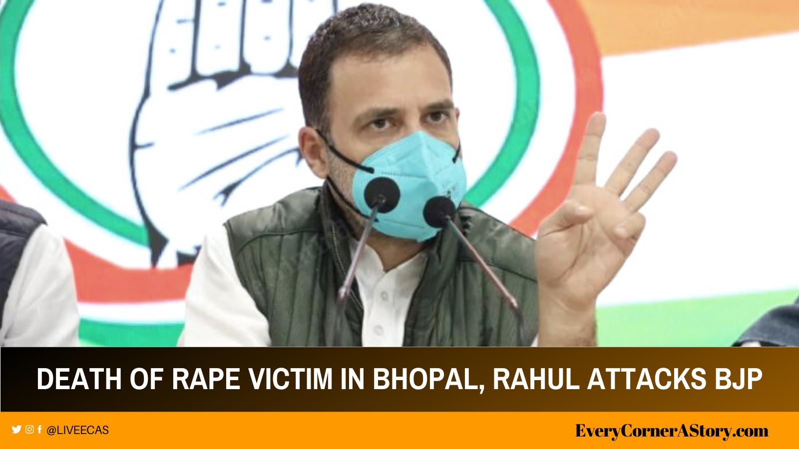 The BJP government fails to defend women around everywhere, Rahul Gandhi attacks BJP