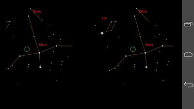 Imagen de la pantalla mientras se ejecuta la aplicación Universe2go.