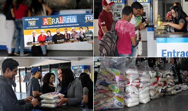 Anápolis: Começam as trocas de ingressos para o Arraiana