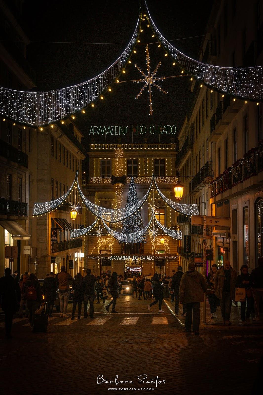 Chiado - Christmas Decorations in Lisbon