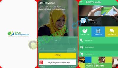 Tampilan Aplikasi BPJS Ketenagakerjaan Mobile Online