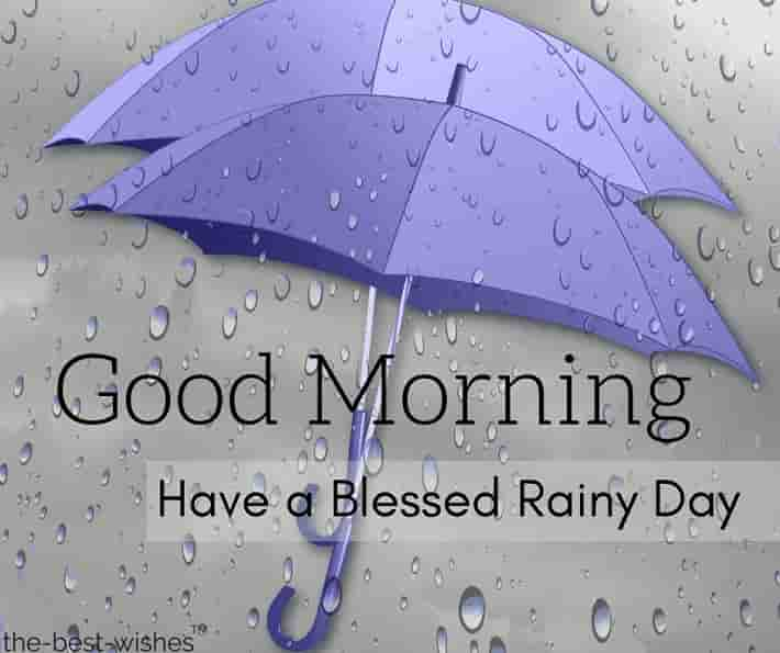 good morning images with rain