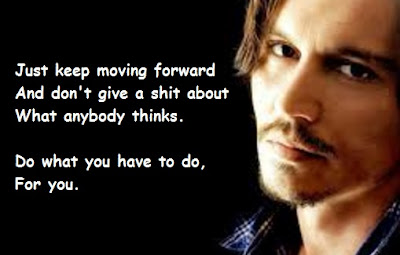 """Johnny Depp Quotes About Moving Forward"""