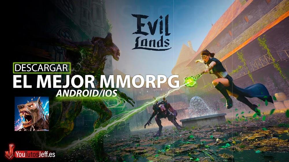 El Mejor MMORPG para Teléfono🔥Descargar Evil Lands GRATIS!