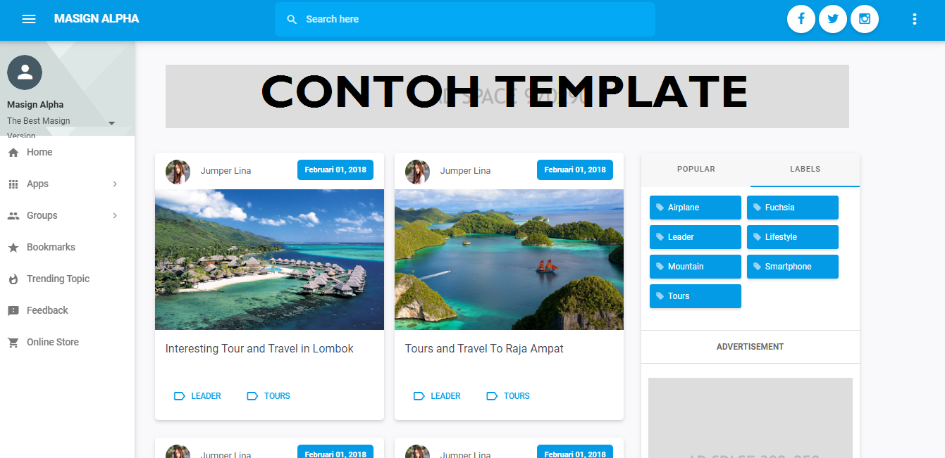Download Template Toko Online Premium Masign Alpha [Redesign]