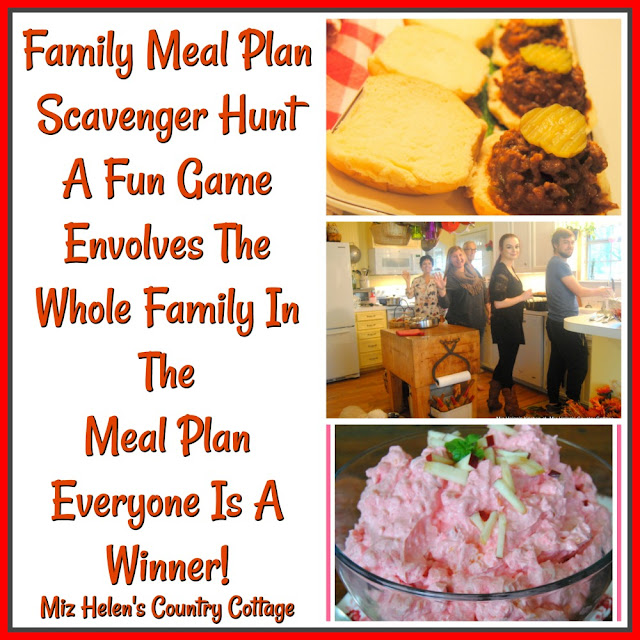 Family Meal Plan Scavenger Hunt at Miz Helen's Country Cottage