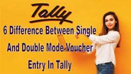 6 Difference Between Single and Double Mode Voucher Entry in Tally