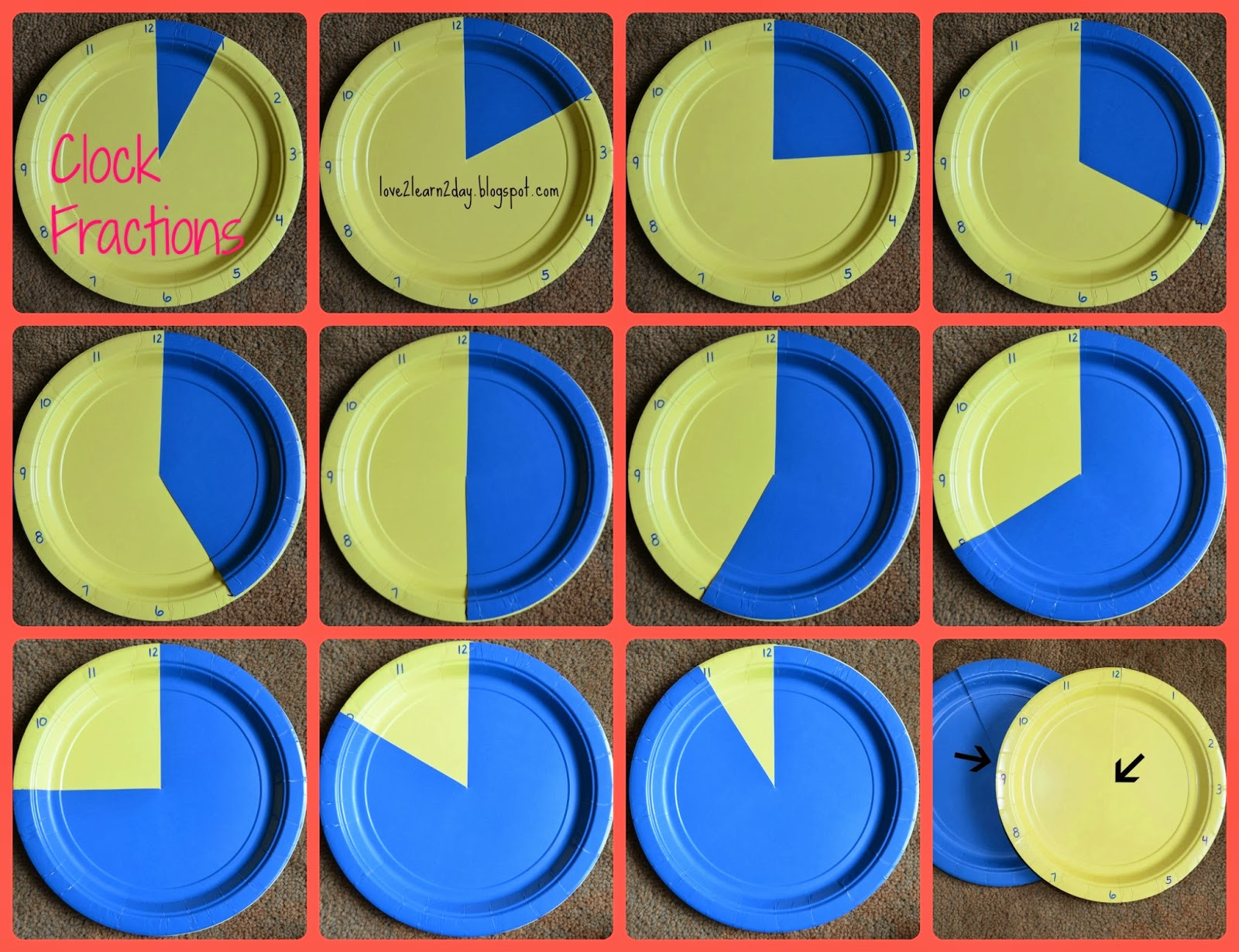 Love2learn2day Fraction Addition Made Easy Clocks