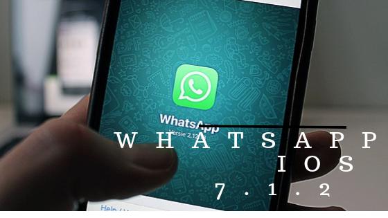 WhatsApp iOS 7.1.2