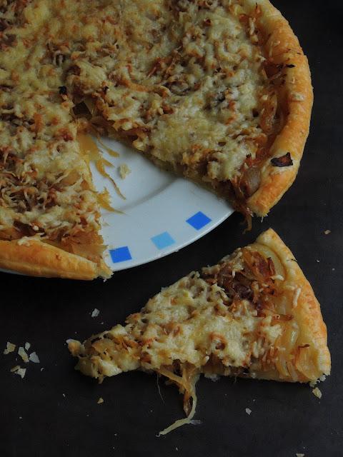Cheesy Caramelised Onion Tart