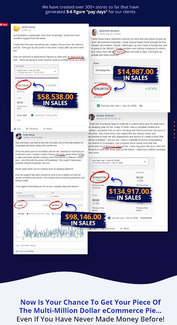 """Dropshiply  have created over 300+ stores so far that have generated 5-6 figure """"pay days"""" for our clients Completely Done For You Dropshipping Store Setup & Installation Preloaded With 100+ Products.. Just Copy, Paste And PROFIT"""