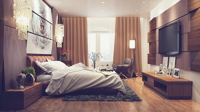 Phòng ngủ rộng 40m2.