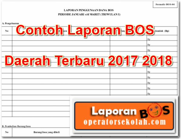 Contoh Laporan BOS Daerah Terbaru 2017 2018