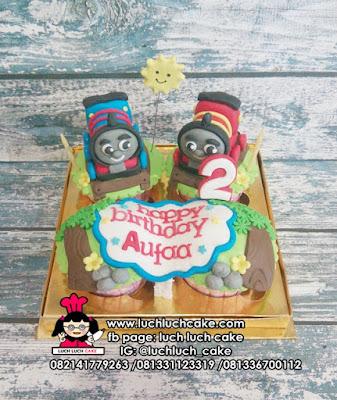 Cupcake Fondant 3D Thomas Kereta Api