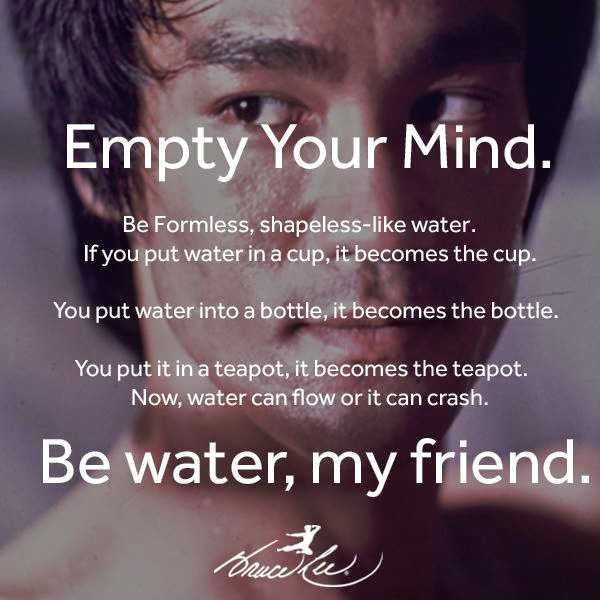 Bruce Lee Quote Be Like Water