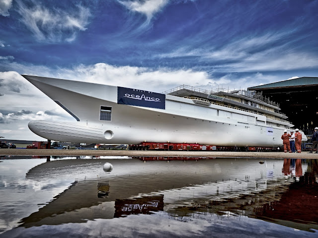 Oceanco's Latest 109m/357ft Motoryacht Enters Outfitting Phase