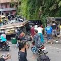 Kecelakaan Beruntun Akibatkan 1 Orang Meninggal Dunia dan Belasan Orang Luka-Luka