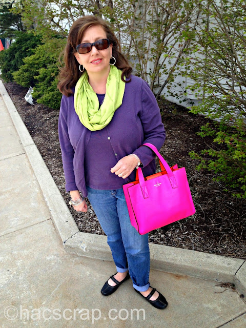 Wear a colorful Cardigan to get ready for Spring!