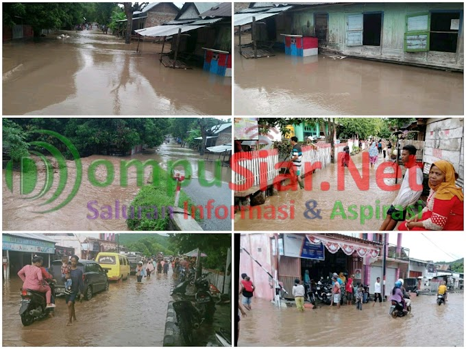 Sekitar 6 Dusun 500 KK Terdampak Banjir Luapan Di Desa Bara, Kabupaten Dompu