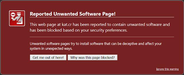 Google bloqueia Kickass torrents no Chrome e Firefox devido a programas prejudiciais