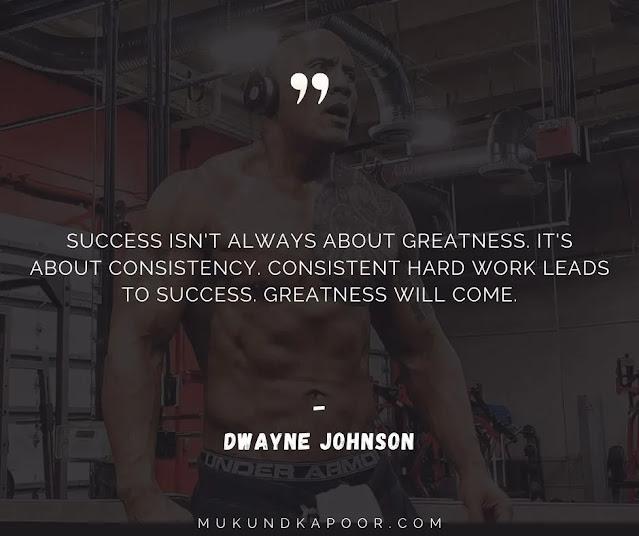 dwayne johnson quotes about success