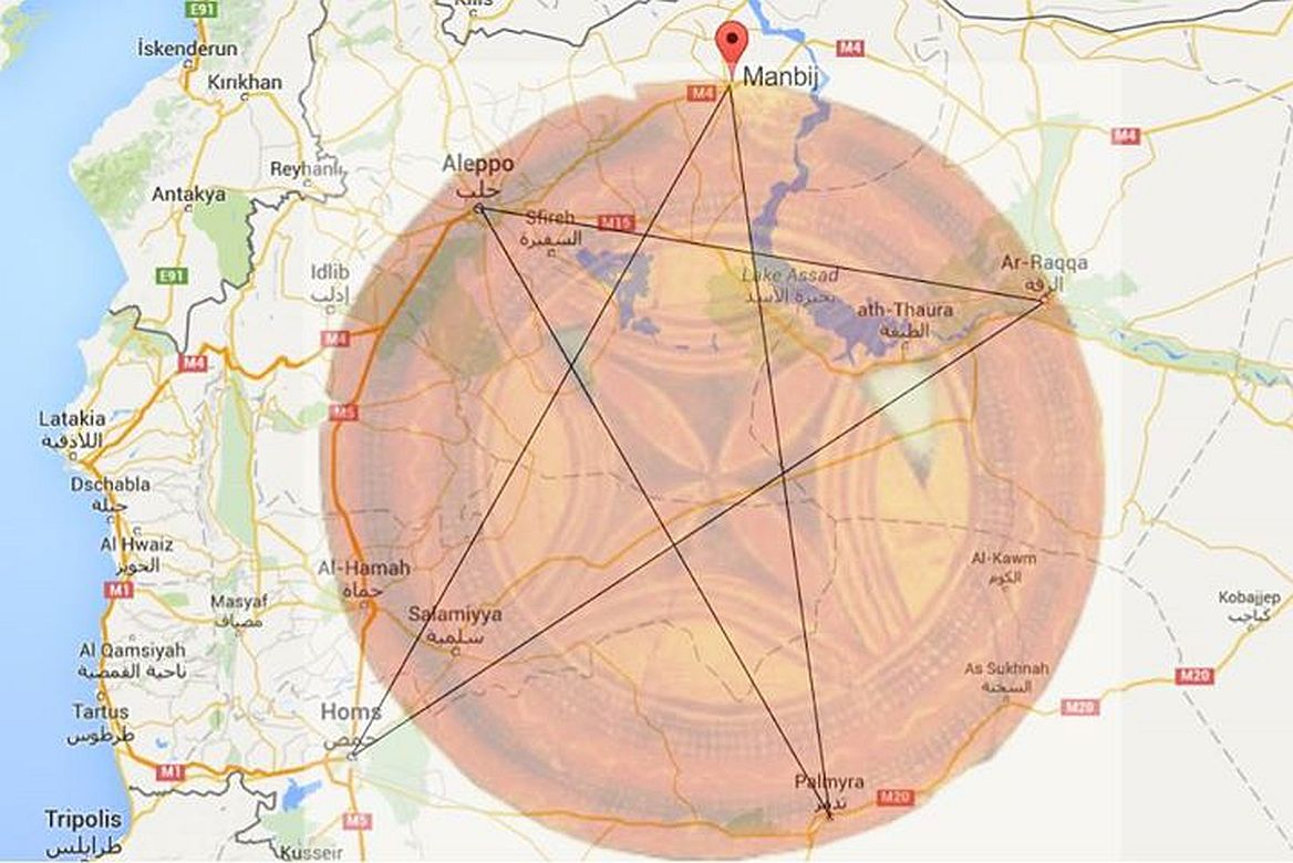 The Portal Planetary Situation Update - Pentagram on us map
