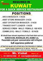 Quick Service Restaurant Job Vacancy