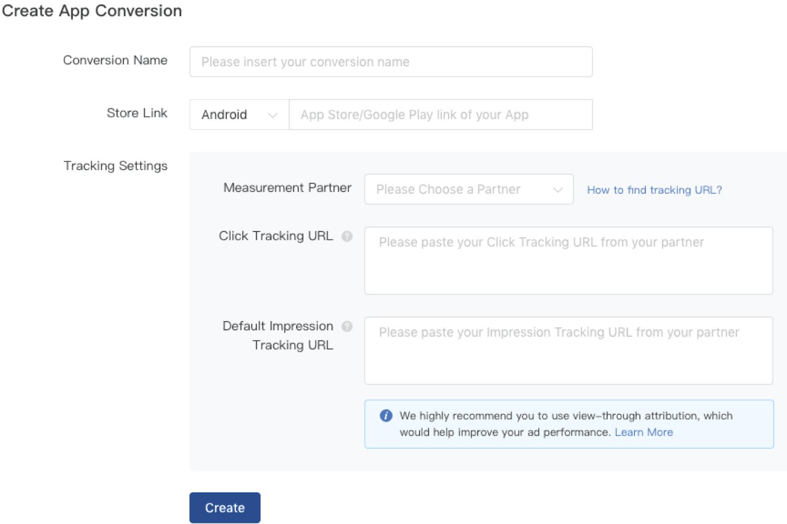 Select your optimization goal