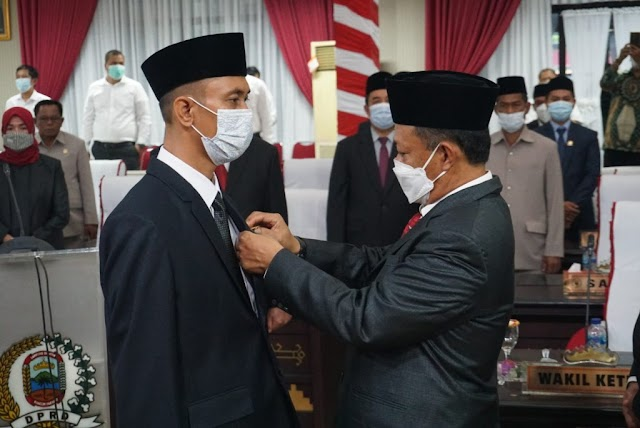 Ketua DPRD Lampung Selatan Lantik Untung Setia Budi Gantikan Darol Kutni