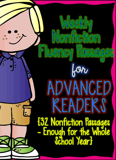 Fluency Passage Set for Advanced Readers