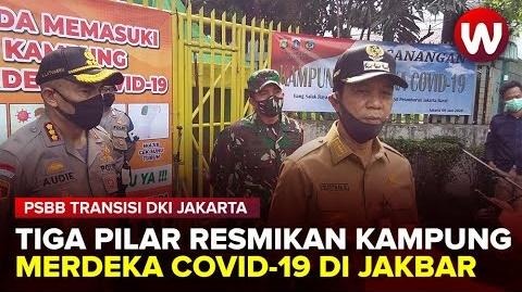 Wali Kota Jakarta Barat Rustam Effendi Resmikan Kampung Merdeka Covid-19