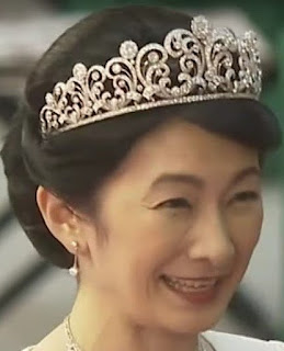 diamond scroll tiara empress michiko japan princess kiko akishino