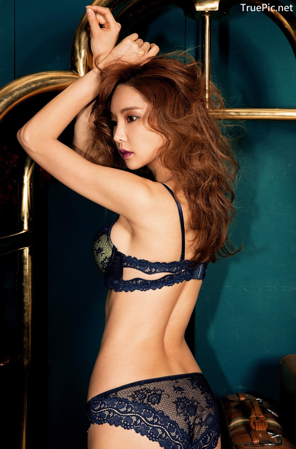 Image Korean Fashion Model - Park Soo Yeon - BVB Black Lace Lingerie - TruePic.net - Picture-3