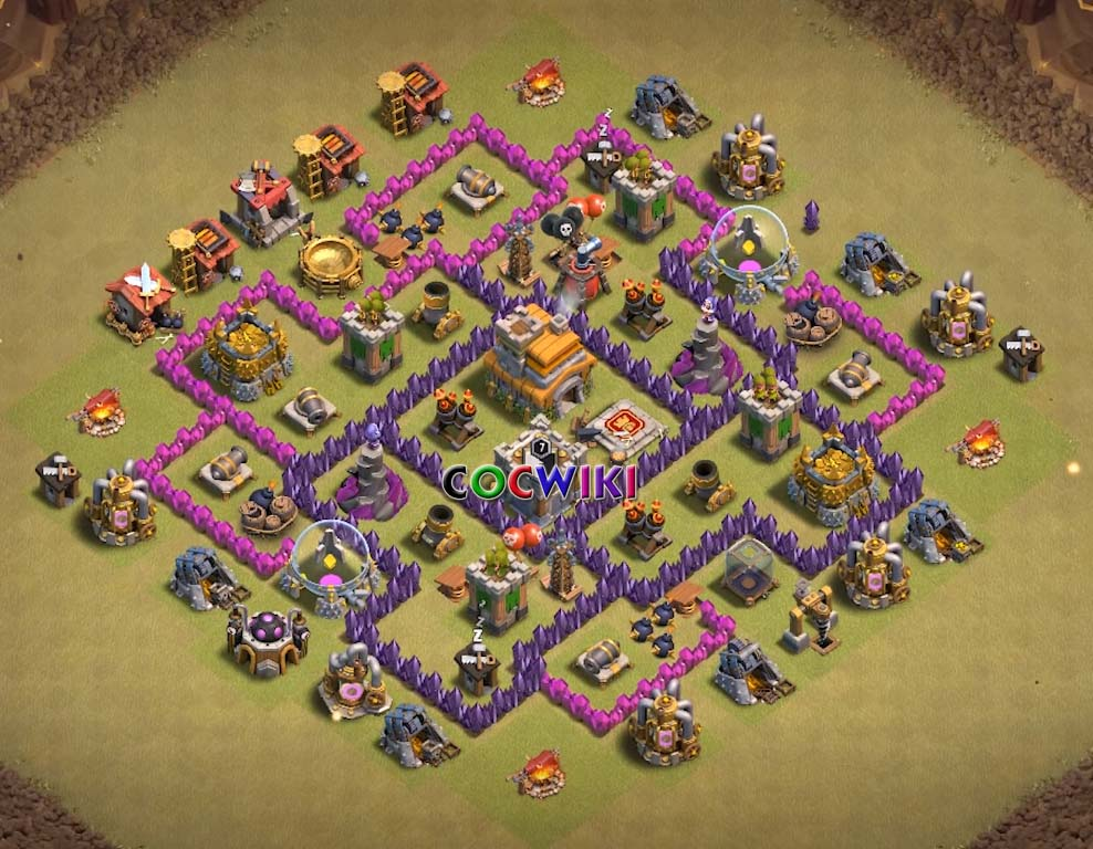 clash of clans town hall 7 design
