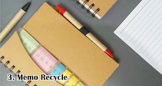 Memo Recycle merupakan souvenir pernikahan yang ramah lingkungan