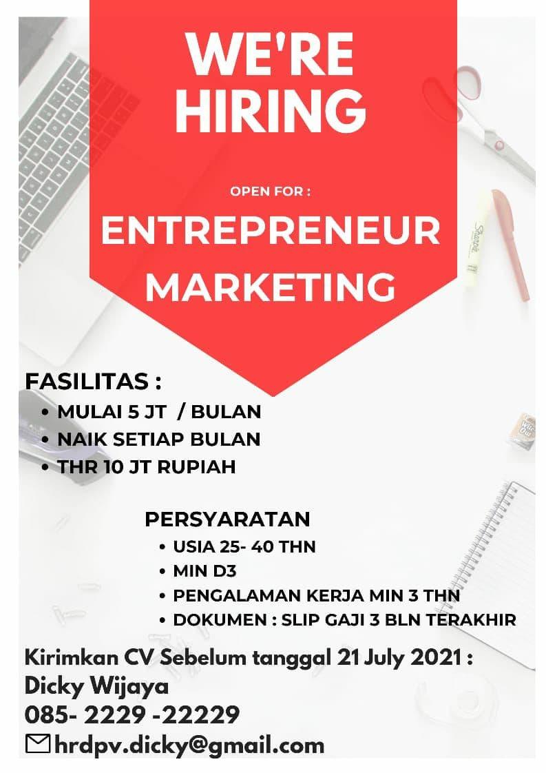 Lowongan Kerja Enterpreneur Markketing Prudential Bandung Juli 2021