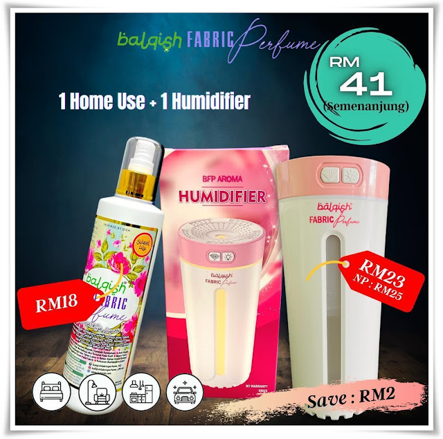Review : Balqish Fabric Perfume with Air Humidifier