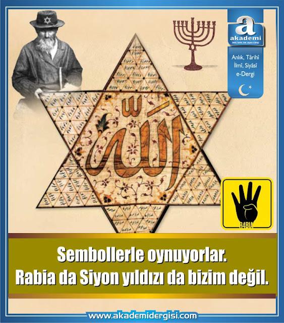 gül cihan, Kabala, kripto yahudiler, masonluk, mühr-ü süleyman, müslüman kardeşler teşkilatı, rabia işareti, sembolizm, siyon yıldızı, siyonizm, yahudi sembolleri