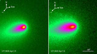 comet c/2019 y4 (atlas) likely distintegration, space,