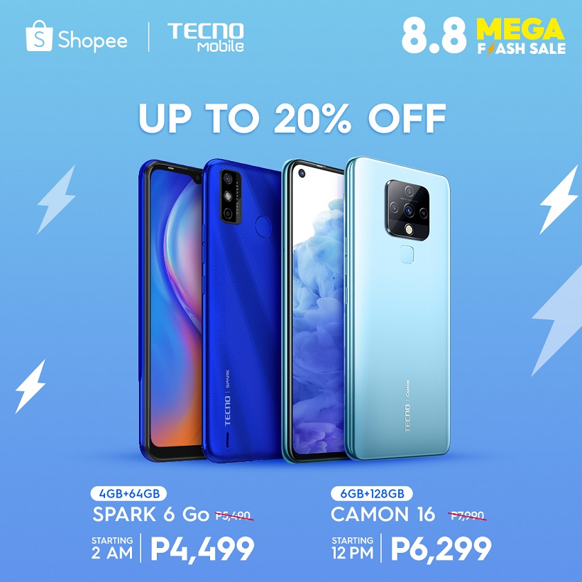 Greatest deals coming to TECNO Mobile Online Stores this 8.8!