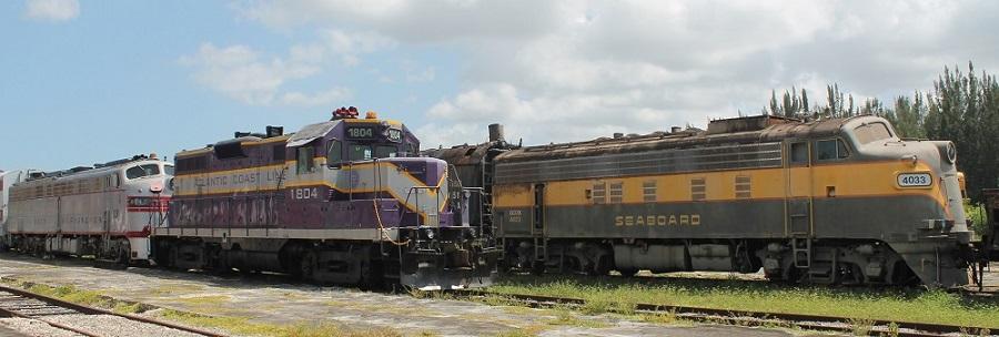 En el museo del ferrocarril 'Gold Coast Railroad Museum'