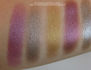 Mermaid Collection - refill ombretti - da sinistra a destra: Calypso, Chemical Bond, Cleo, Juno Moon, Nereide