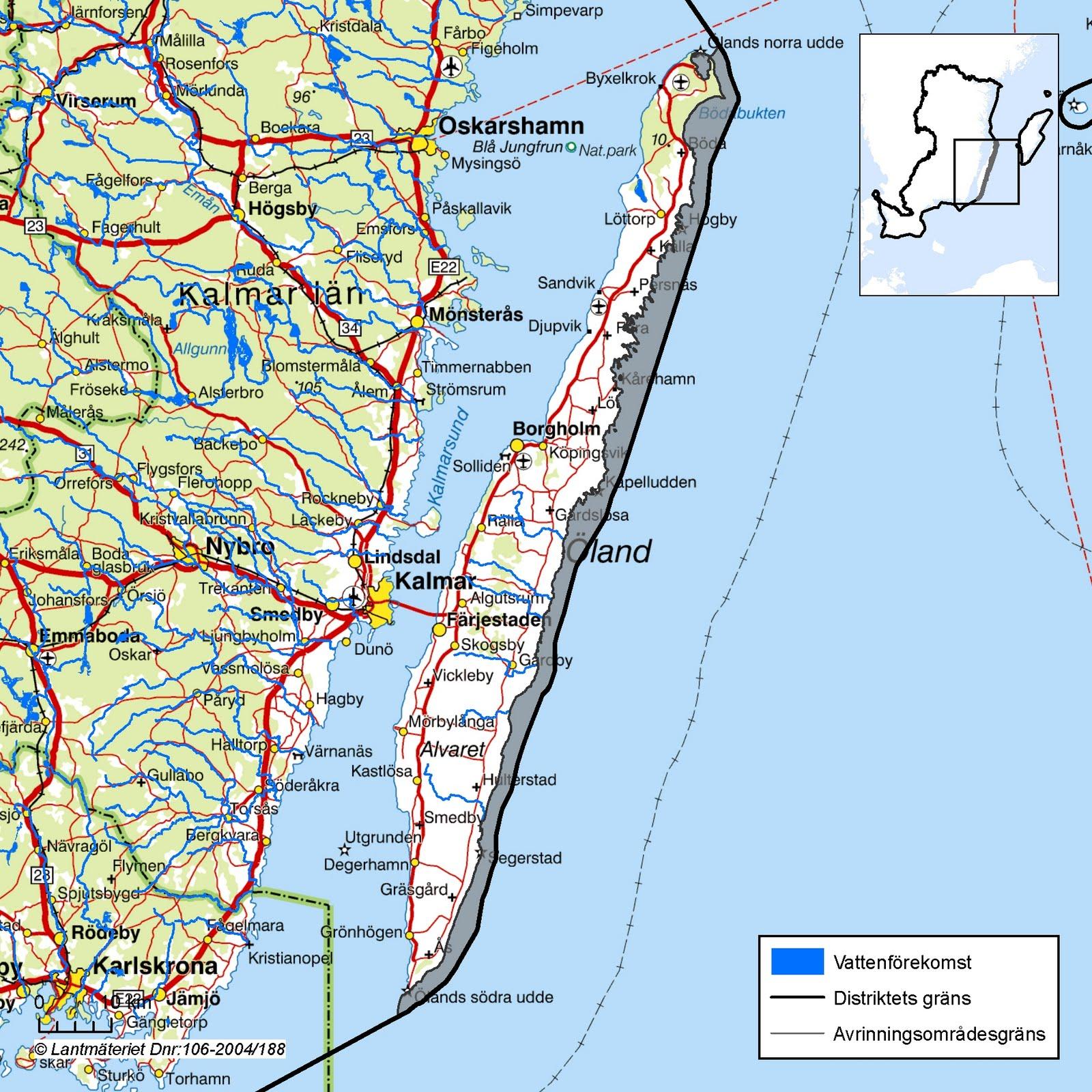 øland sverige kart Karta över Öland Regionen | Karta över Sverige, Geografisk, Fysisk  øland sverige kart
