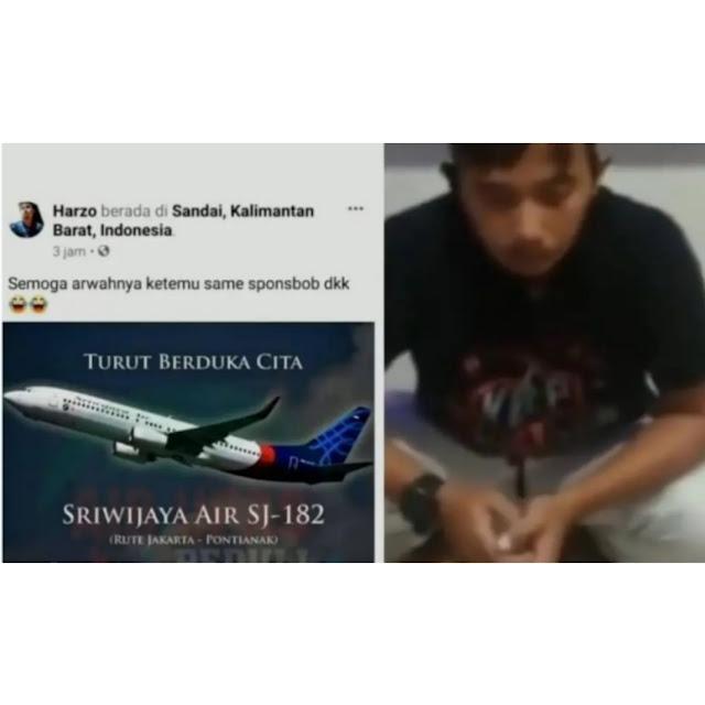 Bikin Guyonan Musibah Sriwijaya Air, Pria di Ketapang Dipolisikan