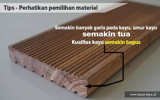Perhatikan umur kayu