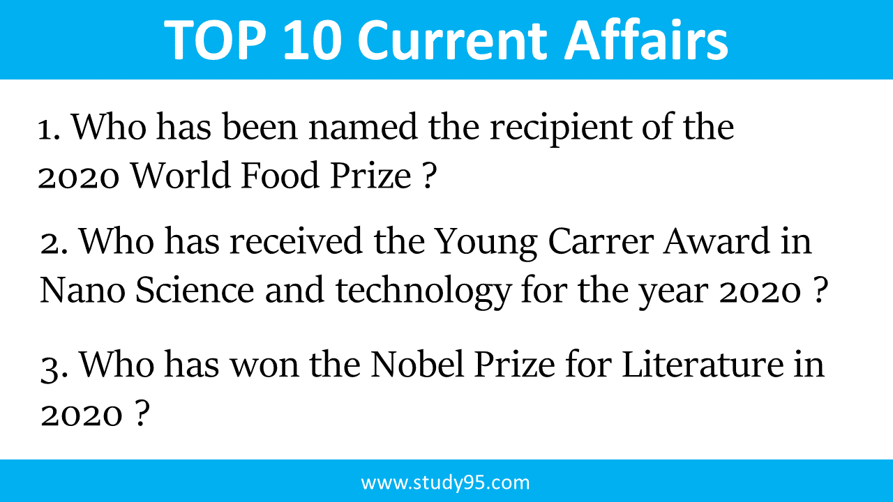 Top 10 Current Affairs