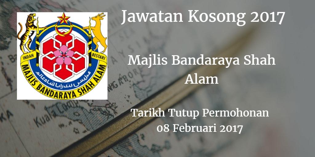 Jawatan Kosong MBSA 08 Februari 2017